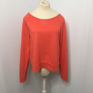SO Tops - Coral Lace Sweatshirt